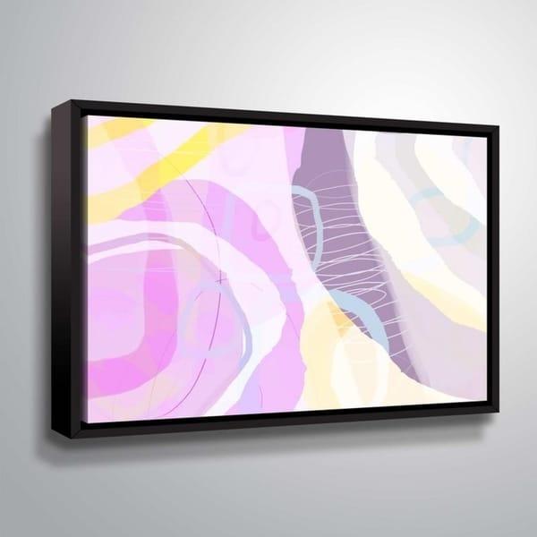 ArtWall Delores Orridge Naskrent 'Grape Crush' Gallery Wrapped Floater-framed Canvas