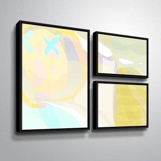 ArtWall Delores Orridge Naskrent 'Cool Cantalope' 3 Piece Floater Framed Canvas Flag Set