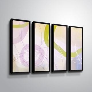ArtWall Delores Orridge Naskrent 'Cosmopolitan Mauve' 4 Piece Floater Framed Canvas Set