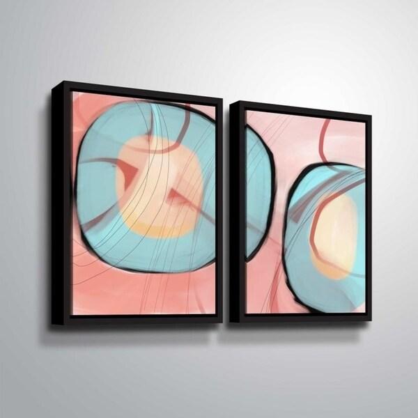 ArtWall Delores Orridge Naskrent 'Refined Taste' 2 Piece Floater Framed Canvas Set