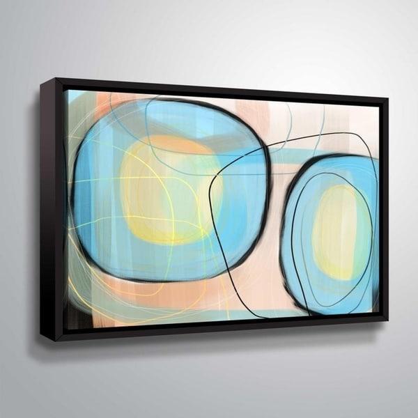 ArtWall Delores Orridge Naskrent 'Robin's Egg' Gallery Wrapped Floater-framed Canvas