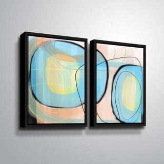 ArtWall Delores Orridge Naskrent 'Robin's Egg' 2 Piece Floater Framed Canvas Set