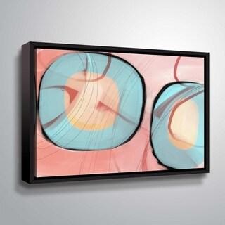 ArtWall Delores Orridge Naskrent 'Refined Taste' Gallery Wrapped Floater-framed Canvas