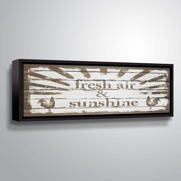 ArtWall Karen Tribett 'Fresh Air & Sunshine' Gallery Wrapped Floater-framed Canvas - Brown