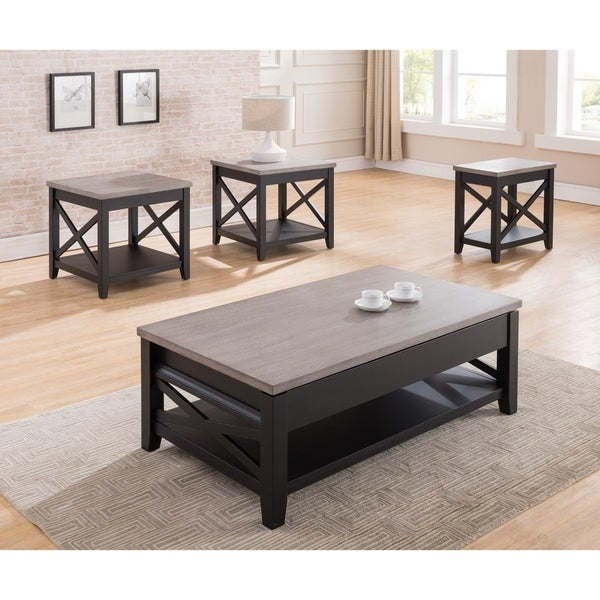 shop simmons casegoods black and grey lift top cocktail table free shipping today overstock. Black Bedroom Furniture Sets. Home Design Ideas