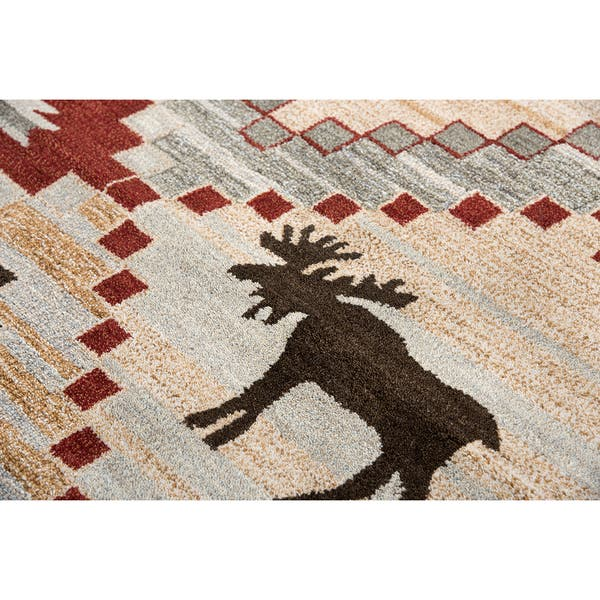 Christmas Area Rugs 8 X 10.Shop Northwoods Rizzy Home Handmade Red Wool Area Rug 8 X