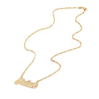 Gold Plated Gold 'Amor' Pendant Necklace