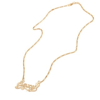 """Gold Plated 18"""" Gold 'Sexy' Letter Necklace"""