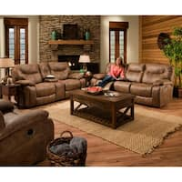 Simmons Upholstery Topgun Saddle Double Motion Sofa