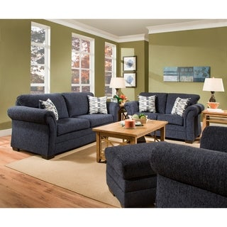 Simmons Upholstery Ventura Ocean and Colefax Driftwood Sofa