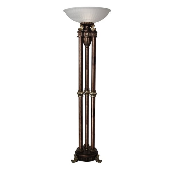 Majestic Gold Floor Lamp - Frosted Glass Shade
