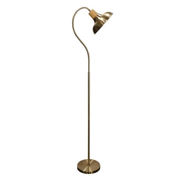 Gold Floor Lamp - Gold Steel Shade