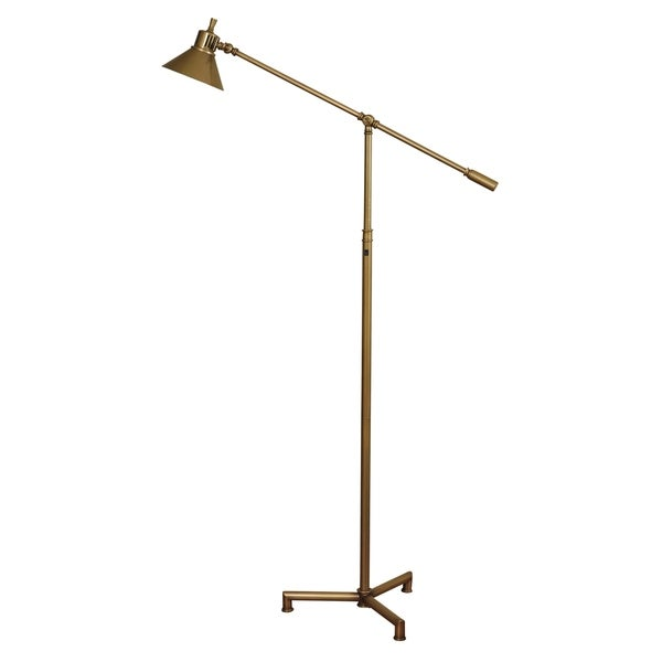 Hemlock Dark Bronze Floor Lamp - Dark Bronze Metal Shade