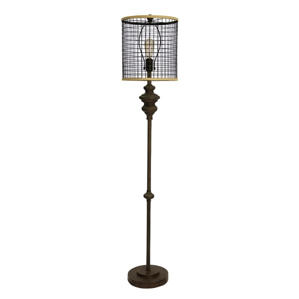 Black Metal Floor Lamp - Black Metal Shade