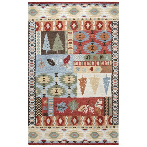 Rizzy Home Northwoods Area Rug, Size Red - 5' x 8',