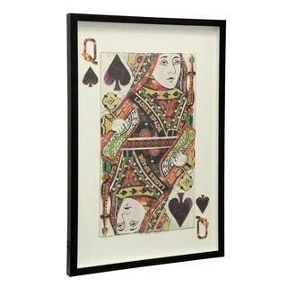 StyleCraft Queen Of Spades Multi Level Framed Wall Art