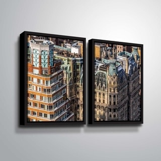 ArtWall Richard James 'Ansonia Roof' 2 Piece Floater Framed Canvas Set