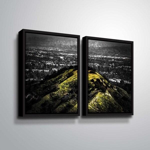 ArtWall Richard James 'Mulholland Hill' 2 Piece Floater Framed Canvas Set