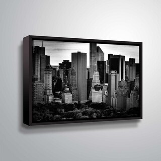 ArtWall Richard James 'Midtown B&W' Gallery Wrapped Floater-framed Canvas