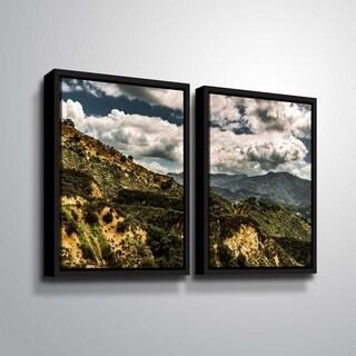 ArtWall Richard James 'Topanga I' 2 Piece Floater Framed Canvas Set