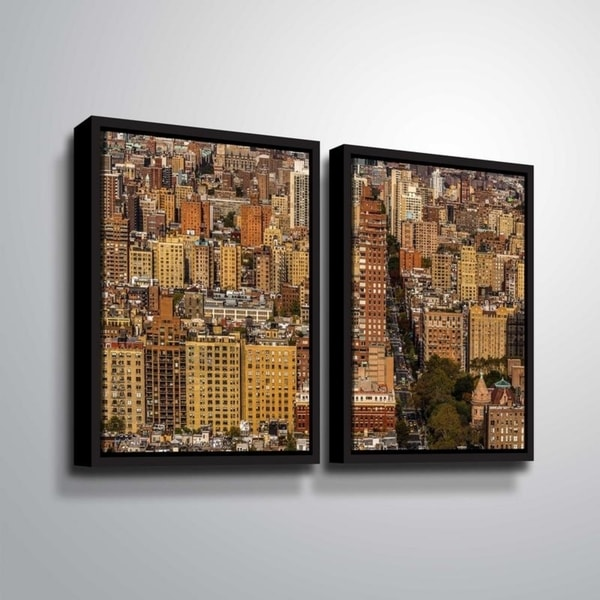ArtWall Richard James 'Upper West Side' 2 Piece Floater Framed Canvas Set