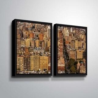 ArtWall Richard James 'Upper West Side' 2 Piece Floater Framed Canvas Set