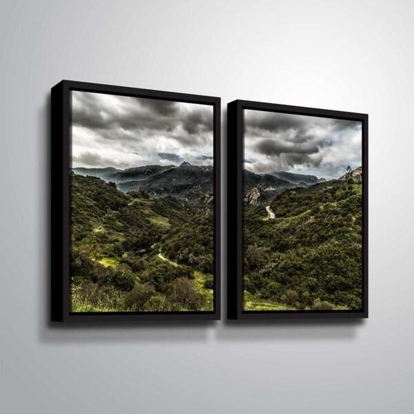 ArtWall Richard James 'Topanga III' 2 Piece Floater Framed Canvas Set