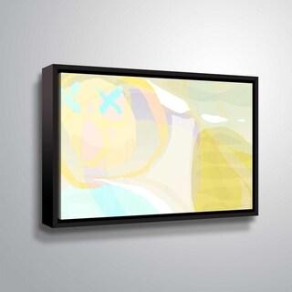ArtWall Delores Orridge Naskrent 'Cool Cantalope' Gallery Wrapped Floater-framed Canvas