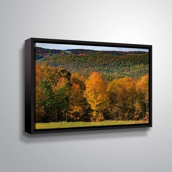 ArtWall Richard James 'Skiff Mountain' Gallery Wrapped Floater-framed Canvas