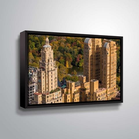 ArtWall Richard James 'Majestic Lake' Gallery Wrapped Floater-framed Canvas