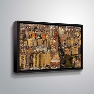 ArtWall Richard James 'Upper West Side' Gallery Wrapped Floater-framed Canvas