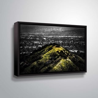 ArtWall Richard James 'Mulholland Hill' Gallery Wrapped Floater-framed Canvas