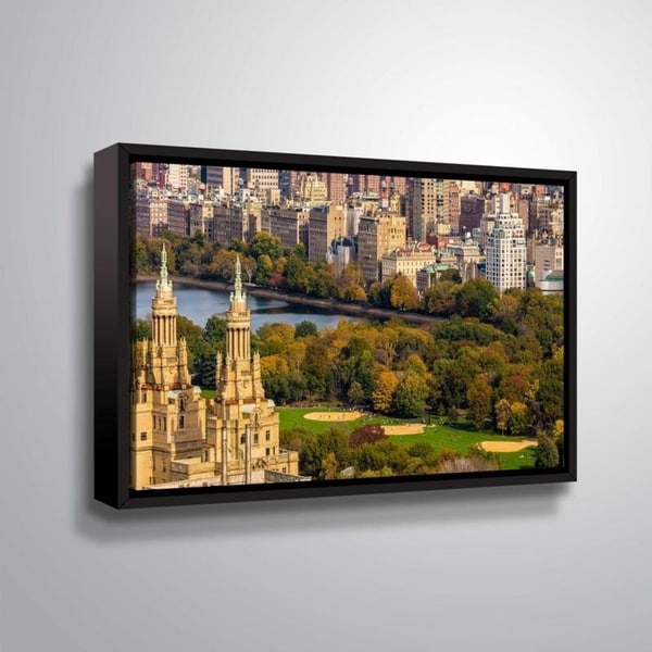 ArtWall Richard James 'San Remo & Park' Gallery Wrapped Floater-framed Canvas
