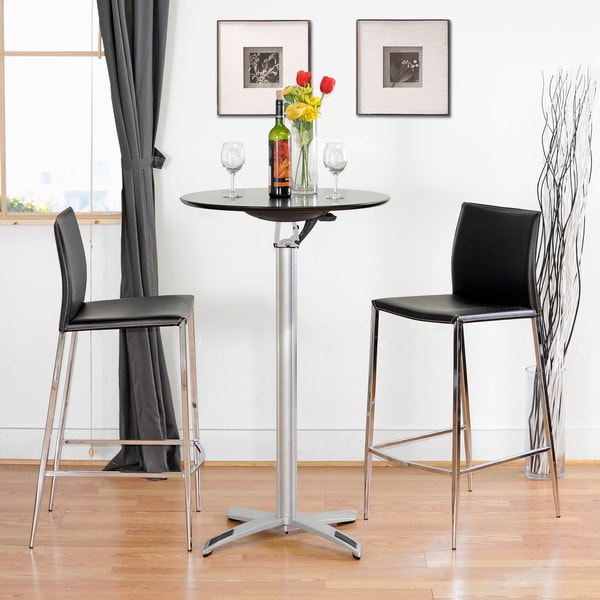Sale alerts for  Broadway Black Leather Set of Two Barstools - Covvet
