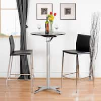"Modern Dark Brown Faux Leather 26"" Counter Stool by Baxton Studio"