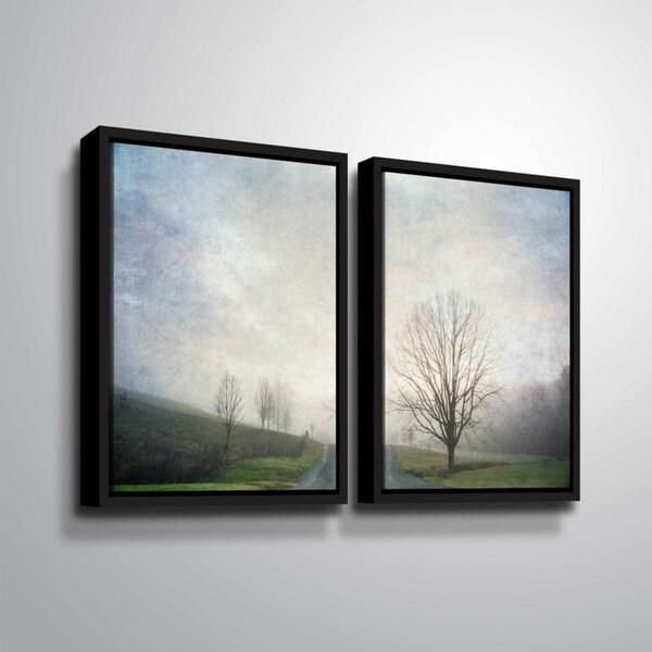 ArtWall Julie Mann Sperry 'The way out' 2 Piece Floater Framed Canvas Set