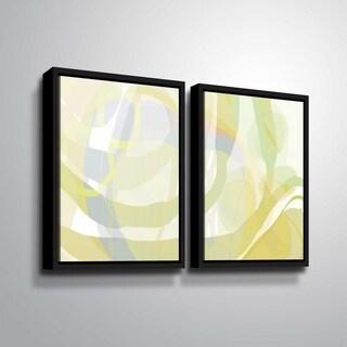 ArtWall Delores Orridge Naskrent 'Pear Piquant' 2 Piece Floater Framed Canvas Set