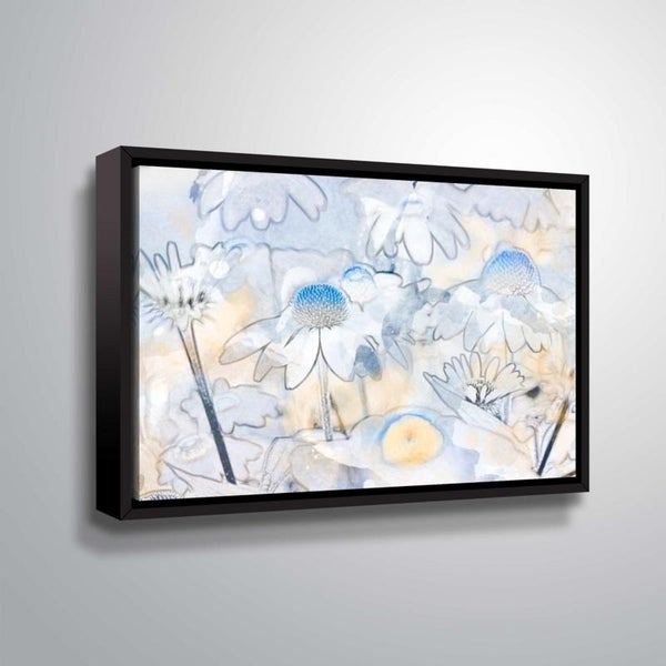 ArtWall Julie Mann Sperry 'Painting the daisies #2' Gallery Wrapped Floater-framed Canvas