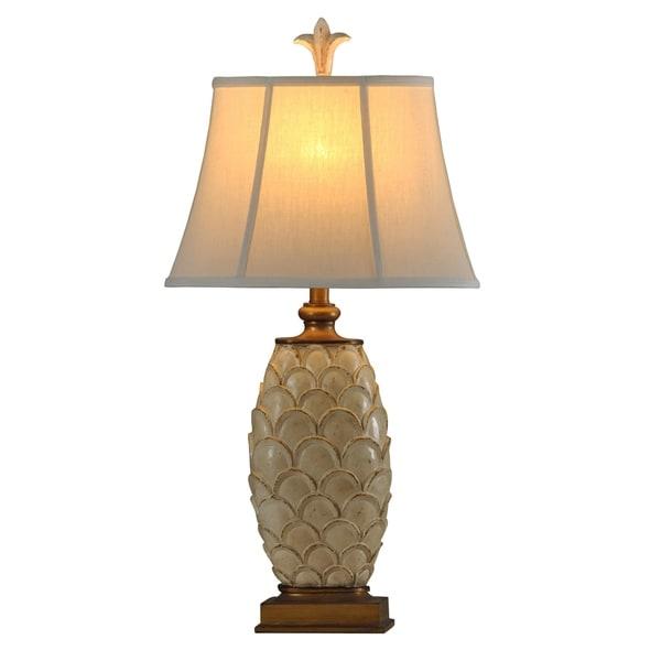 StyleCraft West Lake Cream Table Lamp - Natural Linen Softback Fabric Shade