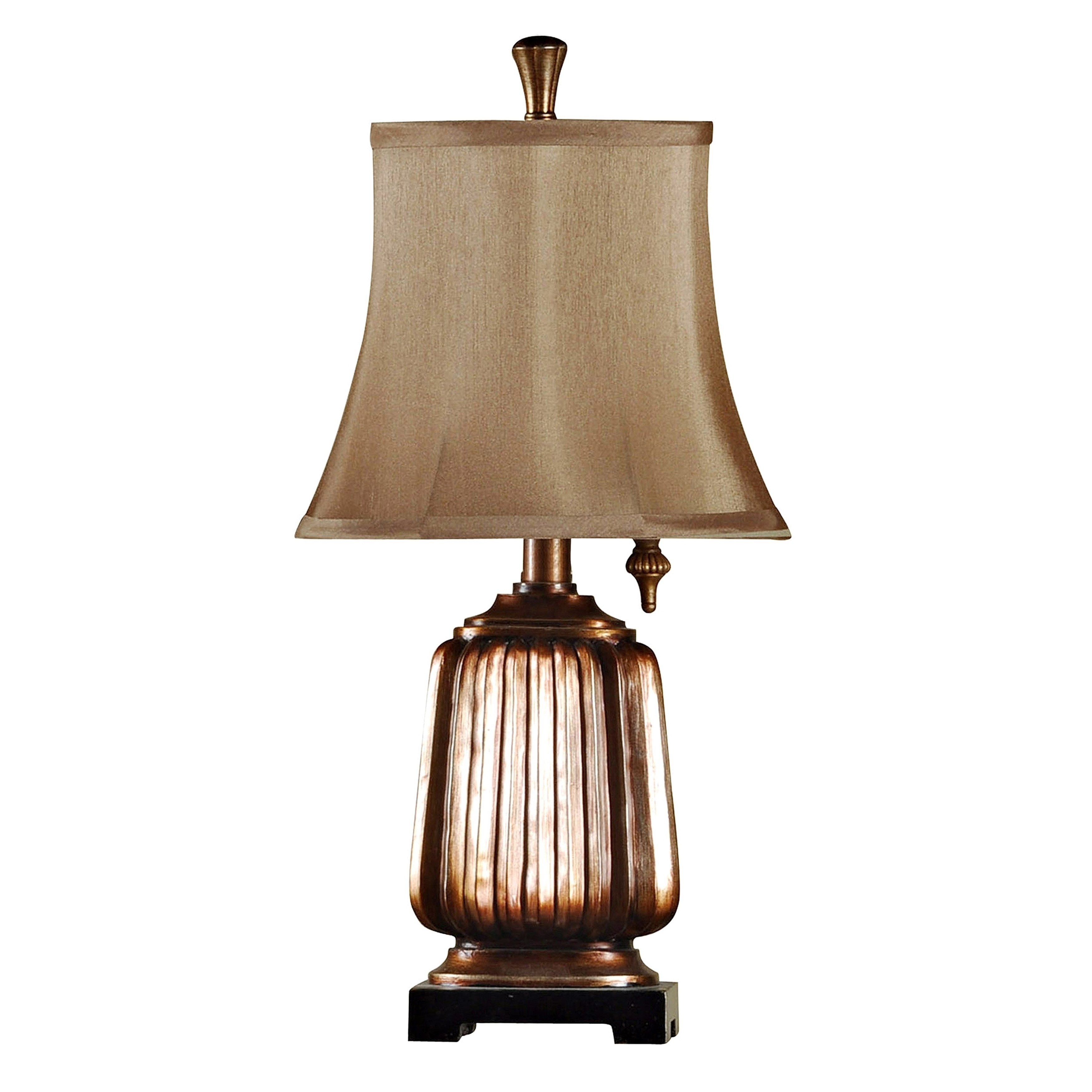 Stylecraft Antique Copper Mini Accent Table Lamp Brown Softback Fabric Shade Overstock 20874939