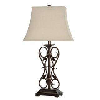 Shop Belvior Park 1 Light Aria Bronze Table Lamp On Sale