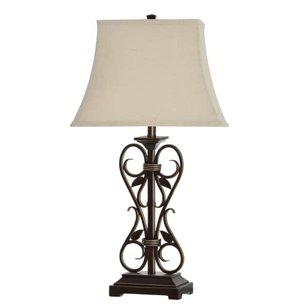 Table Lamp White Linen Shade