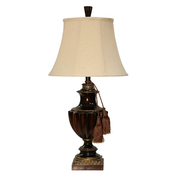 Sienna Bronze Table Lamp - Taupe Softback Fabric Shade