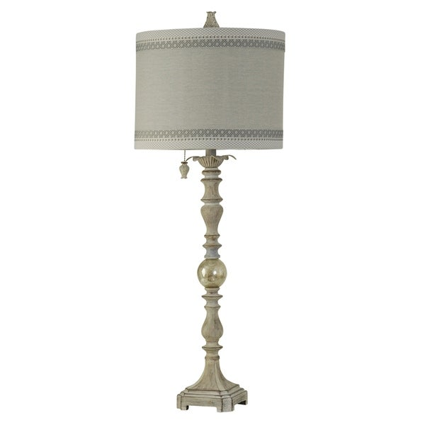 Greyson Washed Gray Table Lamp - Taupe Hardback Fabric Shade