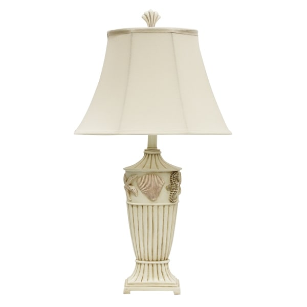 Cream Table Lamp - Cream Fabric Shade