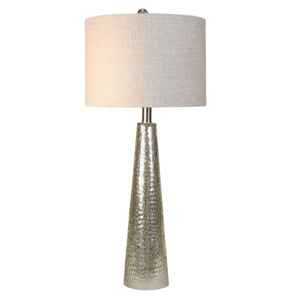 Northbay Mercury Glass Table Lamp - Off-white Hardback Fabric Shade