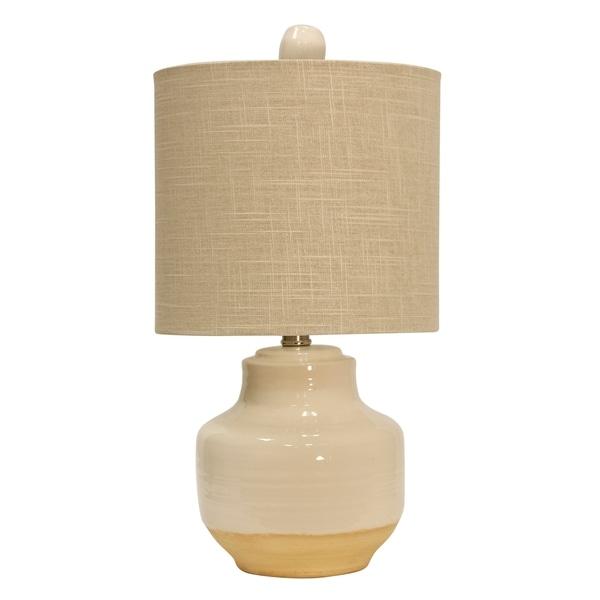 Prova Cream Ceramic Table Lamp - Beige Hardback Fabric Shade