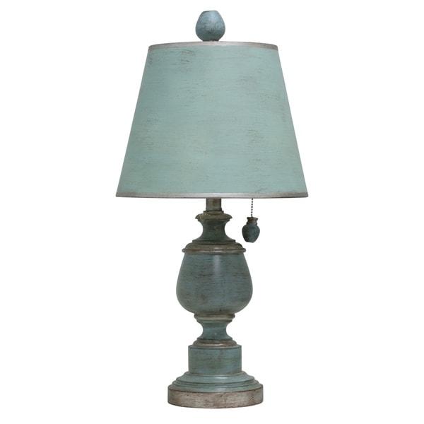 Chelsea Blue Accent Table Lamp - Chelsea Blue Hardback Fabric Shade