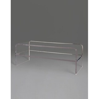 Boda Clear Acrylic Waterfall Table with Shelf