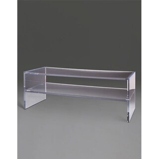 Boda Acrylic C Clear Acrylic Rectangular Coffee Table with Shelf